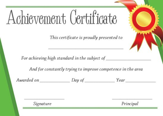 PowerPoint certificate template