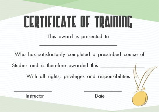PowerPoint training certificate template