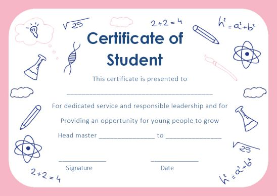 Student Certificate