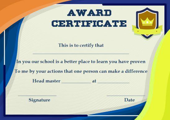 Template_For_Valedictorian award certificate