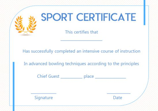 funny sports certificate templates
