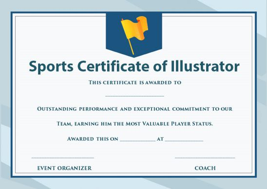 sports certificate template illustrator