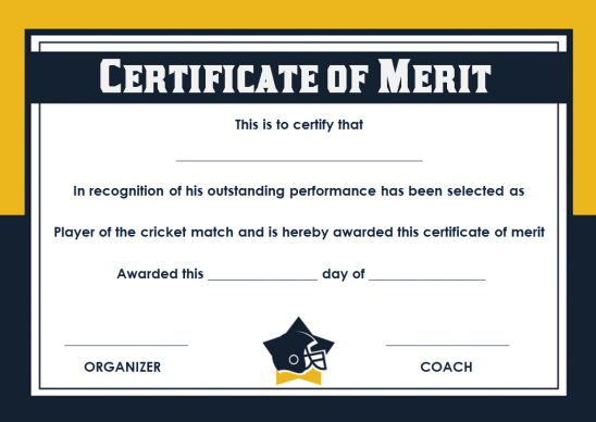 sports winner certificate template