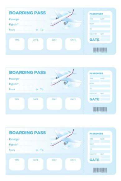 Airplane Boarding Pass Template Free