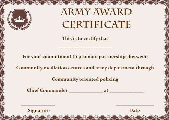 Blank Award Certificate Border Template