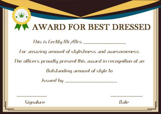 Blank Award Certificate Paper