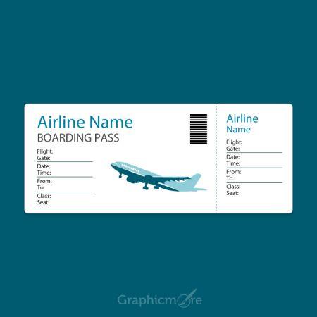Boarding Pass Template Vector