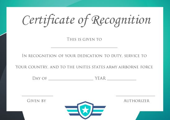 Certificate Of Service PA Template