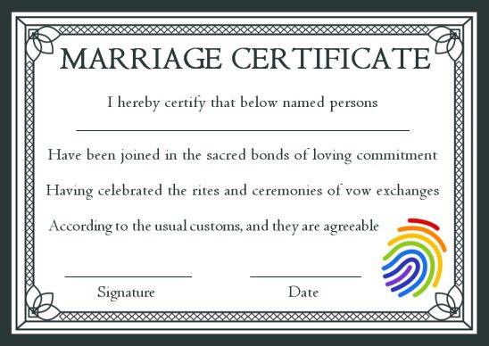 Church Marriage Certificate