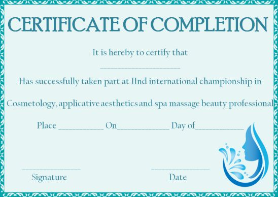 Cosmetology Certificate Template