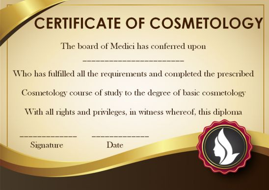 Cosmetology Education And Training Certificate