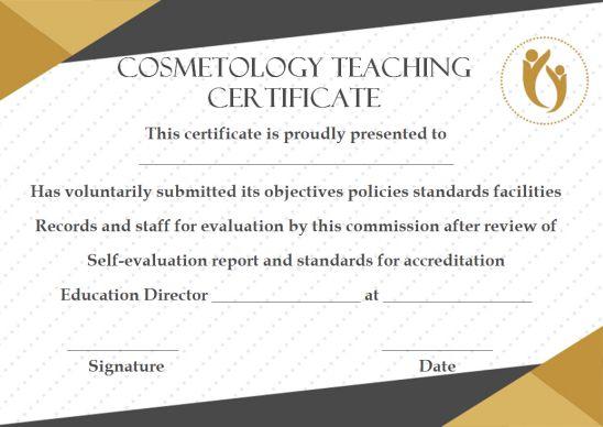 Cosmetology Teaching Certificate