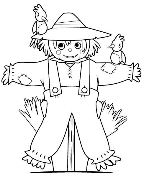 Cute Scarecrow Template