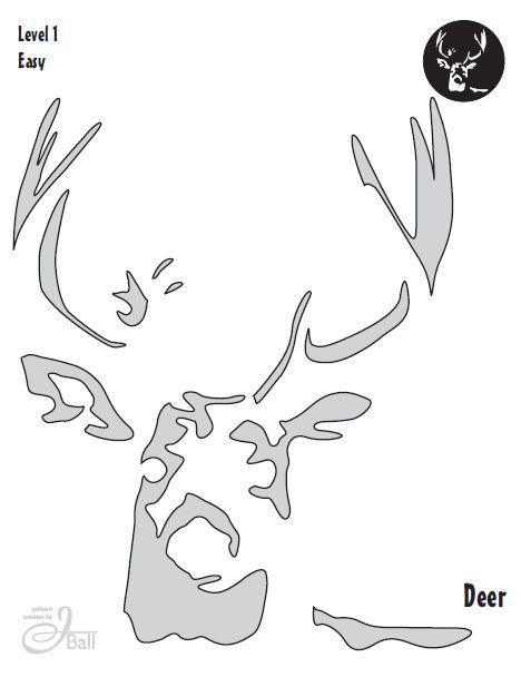 Deer Jack O Lantern Template