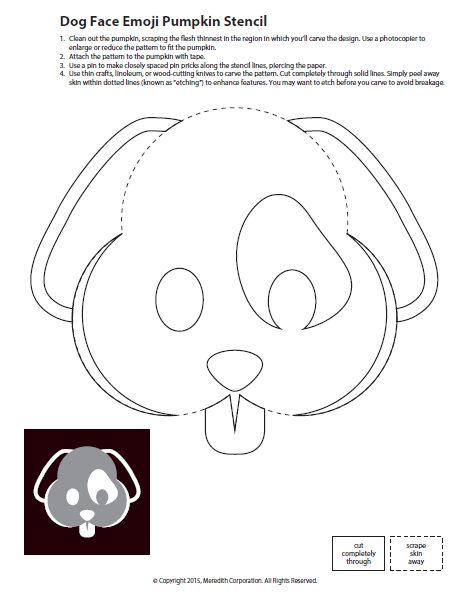 Emoji Jack O Lantern Template