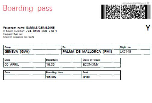Fillable Boarding Pass Template Free