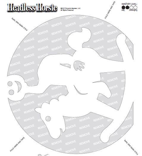 Headless Horseman Jack O Lantern Template