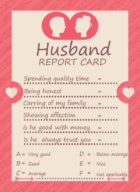Husband ReportCard Templates