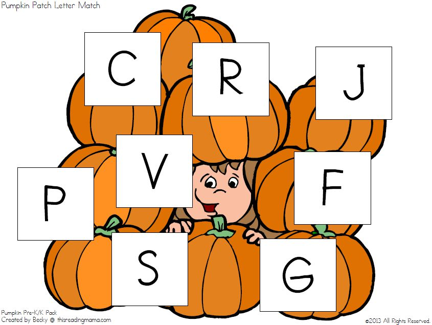 Jack O Lantern Letters Template