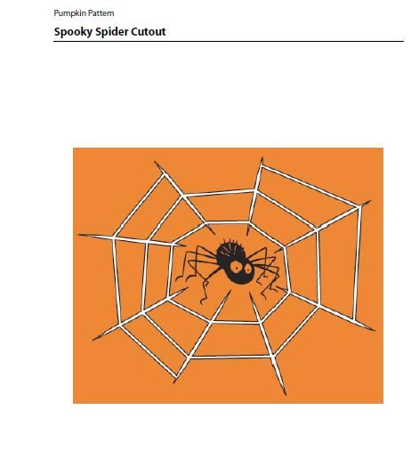 Jack O Lantern Patterns Spider