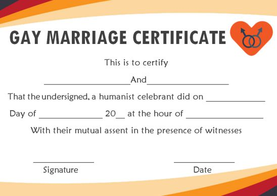 Marriage Certificate Florida