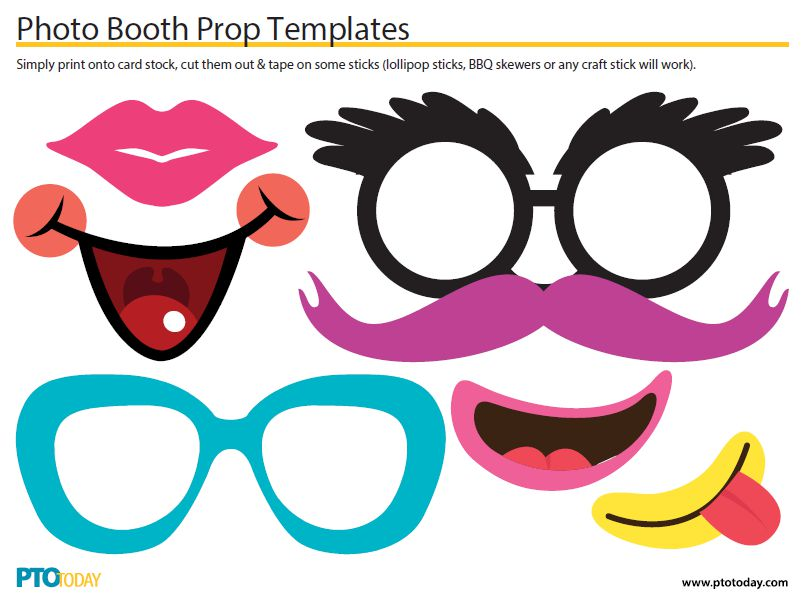 Photo Booth Accessories Template
