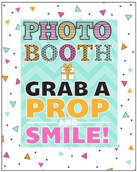 Photo Booth Backdrop Printable