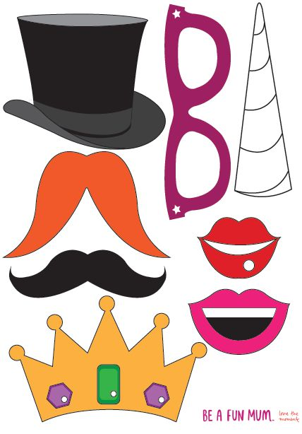 Photo Booth Props Printable New Years