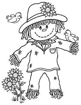 Scarecrow Template For Preschool