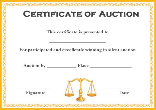 silent auction template