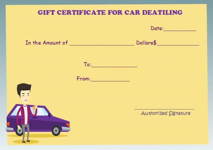 Car detailing free gift certificate