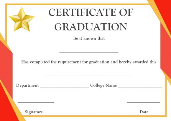 College degree template free