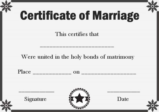 Create fake marriage certificate template