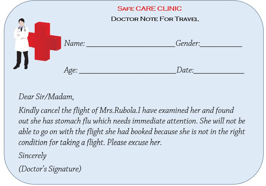 Doctor Note For Travel
