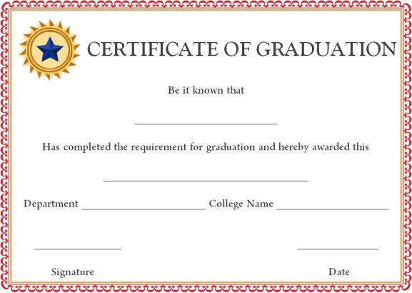 Doctorate certificate templates