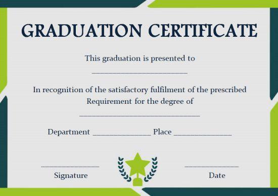 Fake diploma certificate template