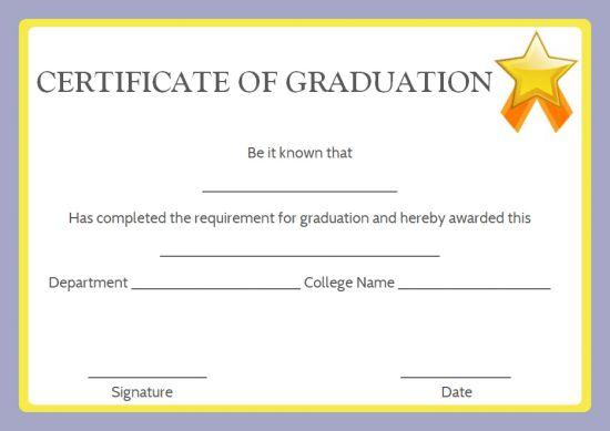 Fake diploma certificate templates