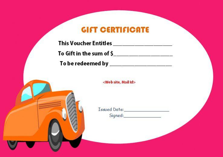 Free car detail gift certificate