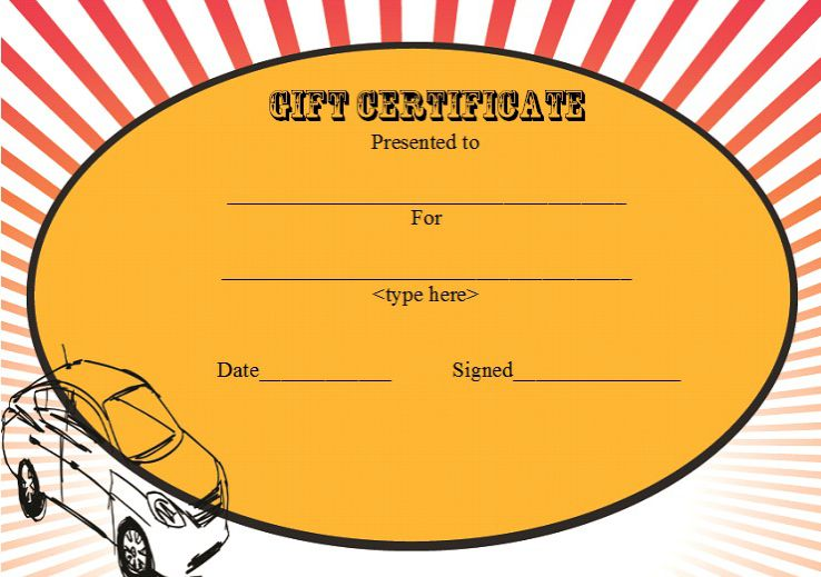 Free gift certificate car detailing