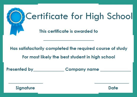 High school most likely to award