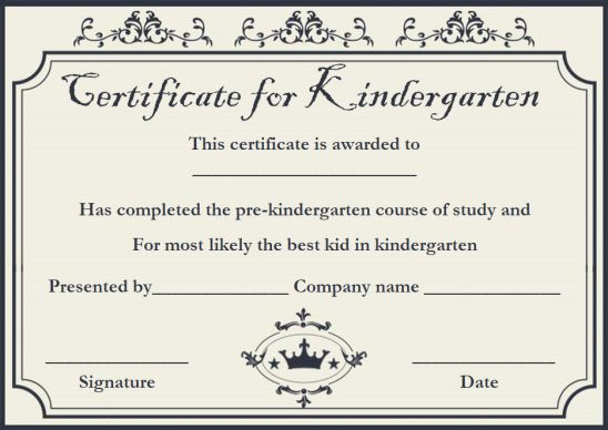 Kindergarten most likely to award