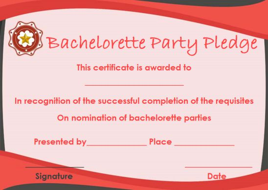 Most likely to award for bachelorette