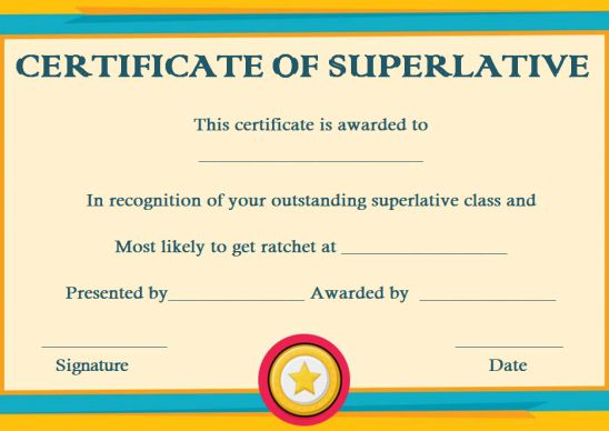 Most likely to superlative award