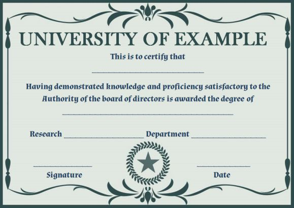 Phd certificate template free