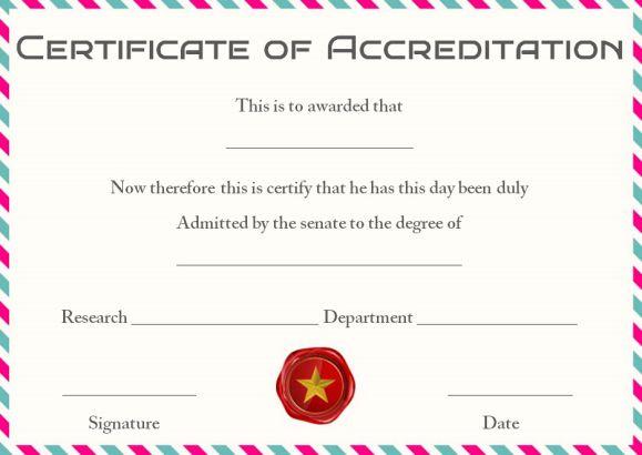 Phd certificate template word