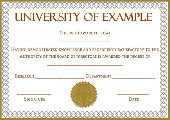 Phd certificate templates free