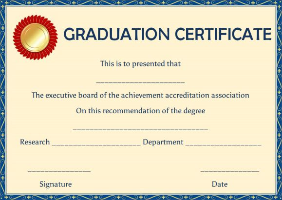 Sample college degree template